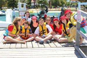 Fun in the sun - campers with their buddies - Camp Sababa 2012