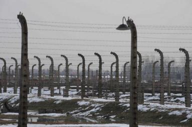 Behind the wire at Auschwitz-Birkenau