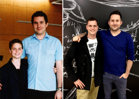 Jonno and Dave - then and now