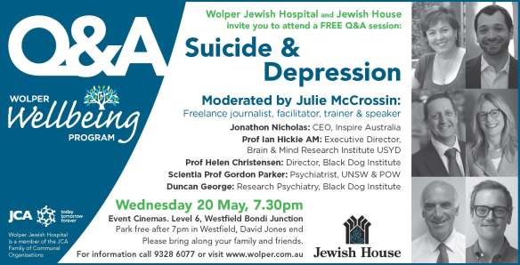 Wolper Hospital and Jewish House wellbeing program