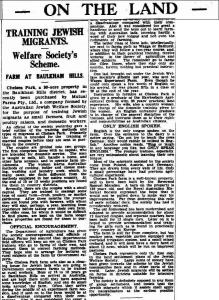 Sydney Morning Herald 10 January 1939