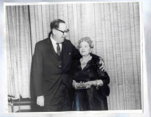 My great-grandmother Ida Mayer Cummings with the incredible Rabbi Magnin, who served Wilshire Boulevard Temple (previously Congregation B'nai B'rith) for 69 years.