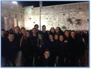 My older son Adam at the Kotel last year, thanks to JCA's Israel program for Year 10s, Y2i.