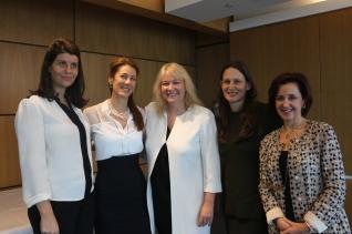Jemima Whyte, Michelle Goldstone, Audette Exel AO, Louise Thurgood Phillips and Denise Meyerson
